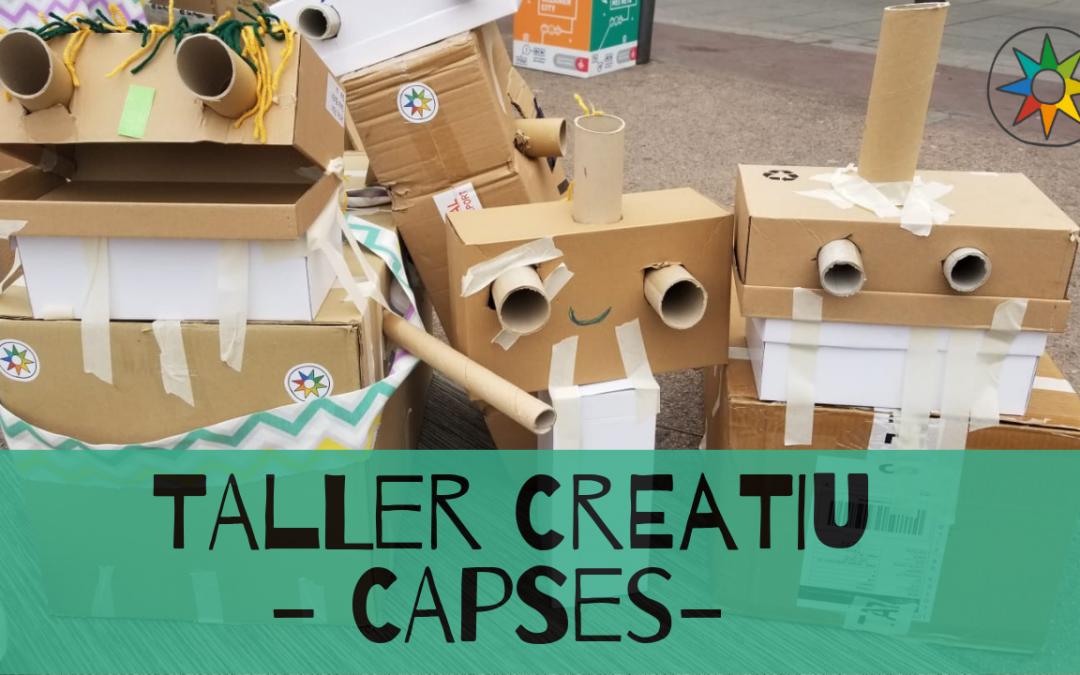 ECO taller amb capses de cartró a Guissona